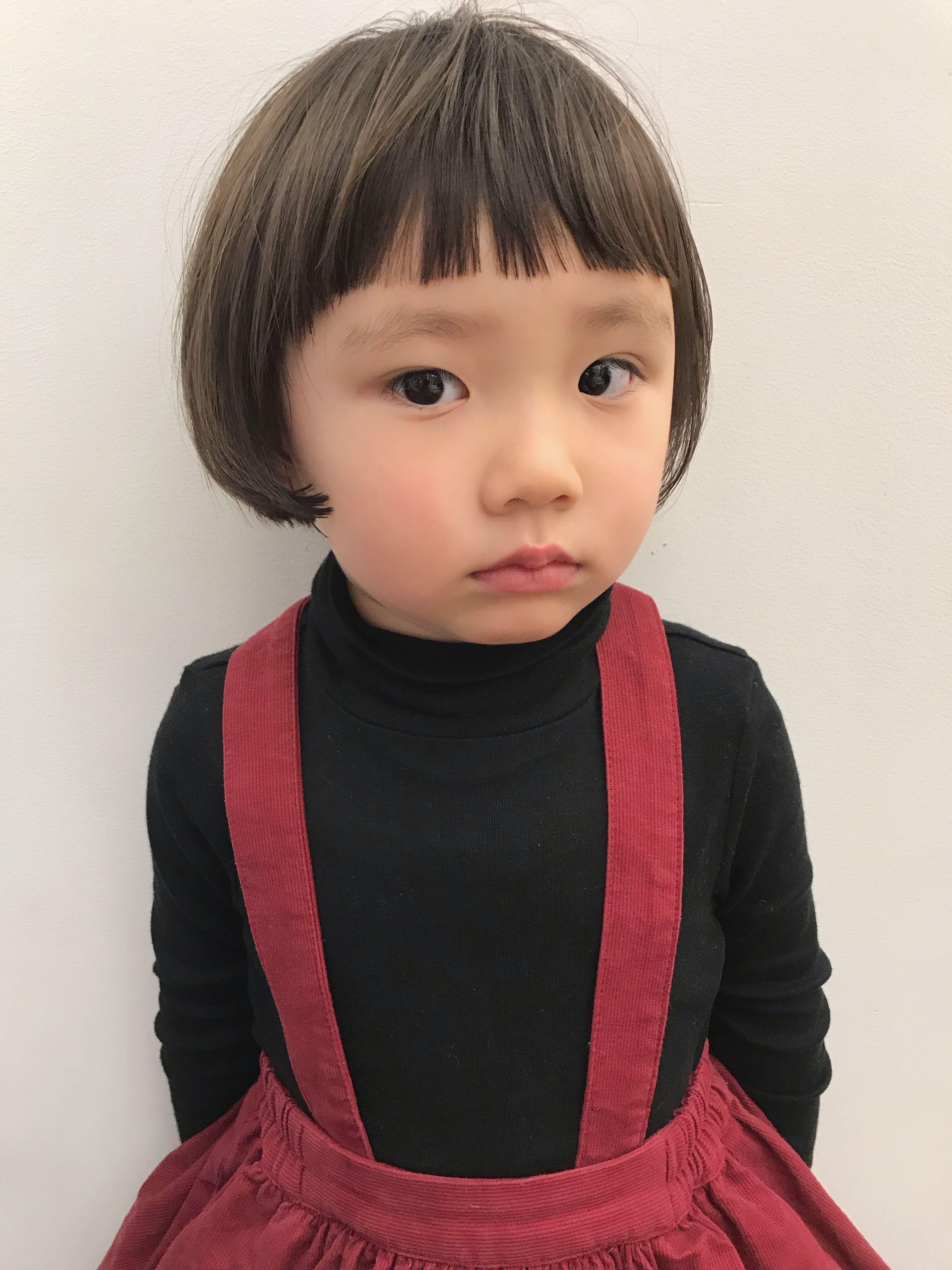 ボード キッズヘアカタログ 女の子 のピン