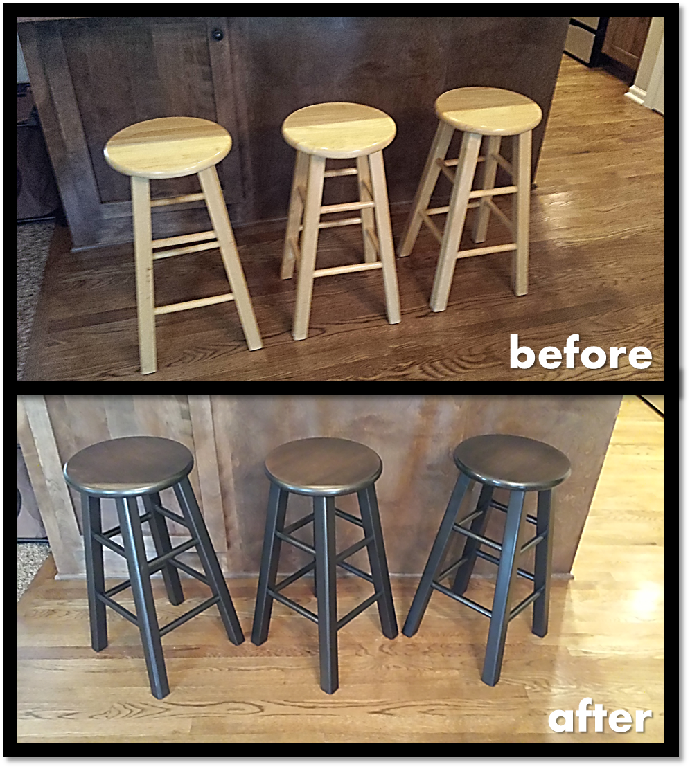 Excellent Wife Wanted New Look For Bar Stools Sanded Then Stained Top Creativecarmelina Interior Chair Design Creativecarmelinacom