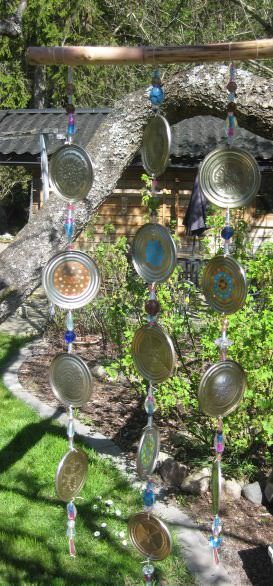 Wind Chime from Upcycled Tin Cans #tincans