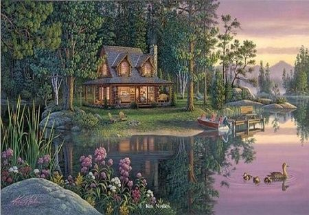 Summer Cottage Painting