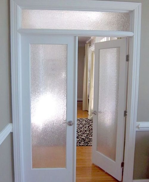 Interior Door With Frosted Gl Panel And Top Home Doors Design Rh Pinterest Co Uk