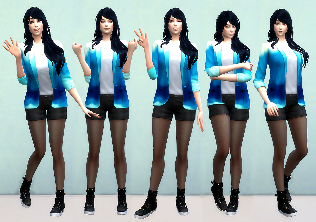 Cyanonigiri Simple Pose Set Hello Sims  Community This Is My First Try