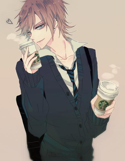 Starbucks Z In 2019 Anime Anime Guys Hot Anime Guys