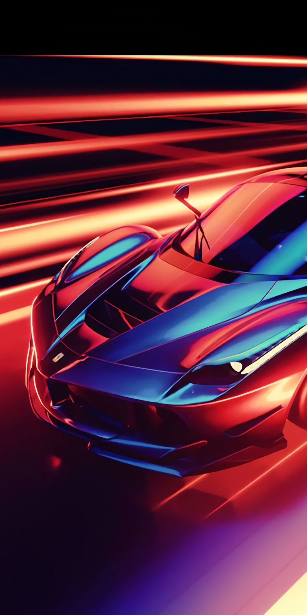 Cgi Art Ferrari Sports Car 1080x2160 Wallpaper Supercars Wallpaper Sports Car Wallpaper Ferrari