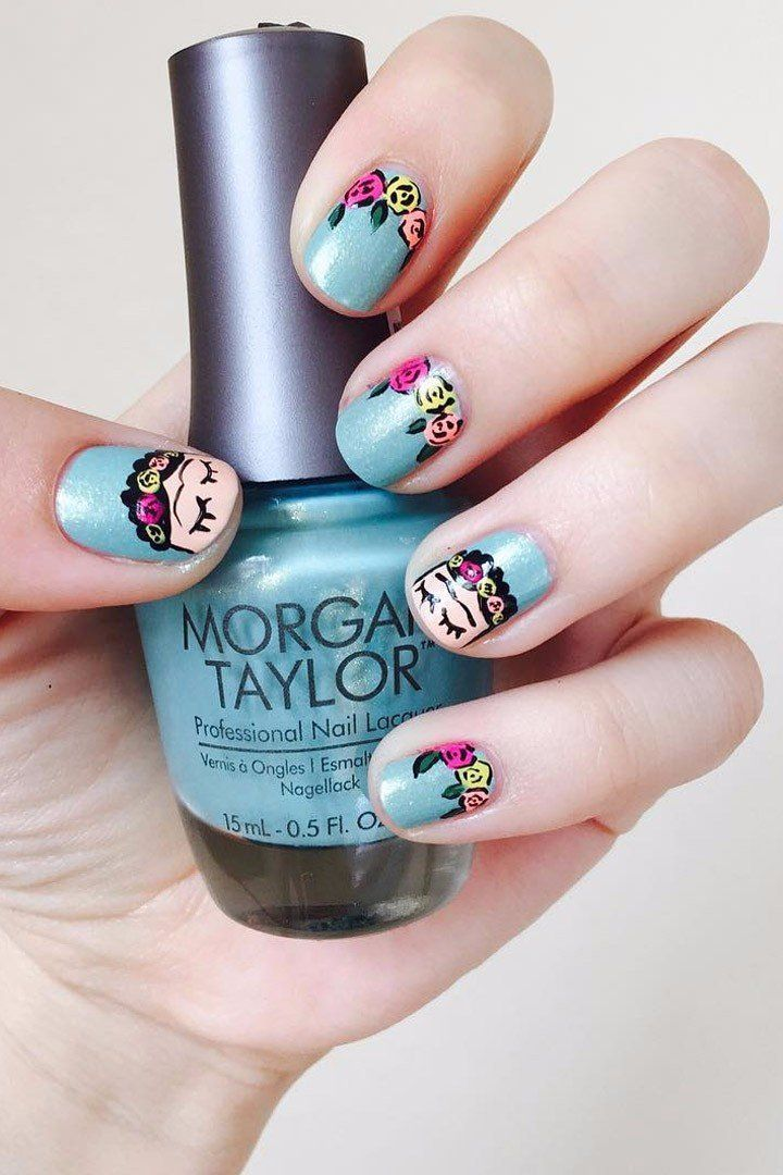 25 Frida Kahlo Nail Art Ideas That Are a Work of Art | Tan ...
