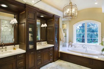 Bathroom Vanity With Tower Storage Dual Traditional Bathroom By - Bathroom vanities with tower storage