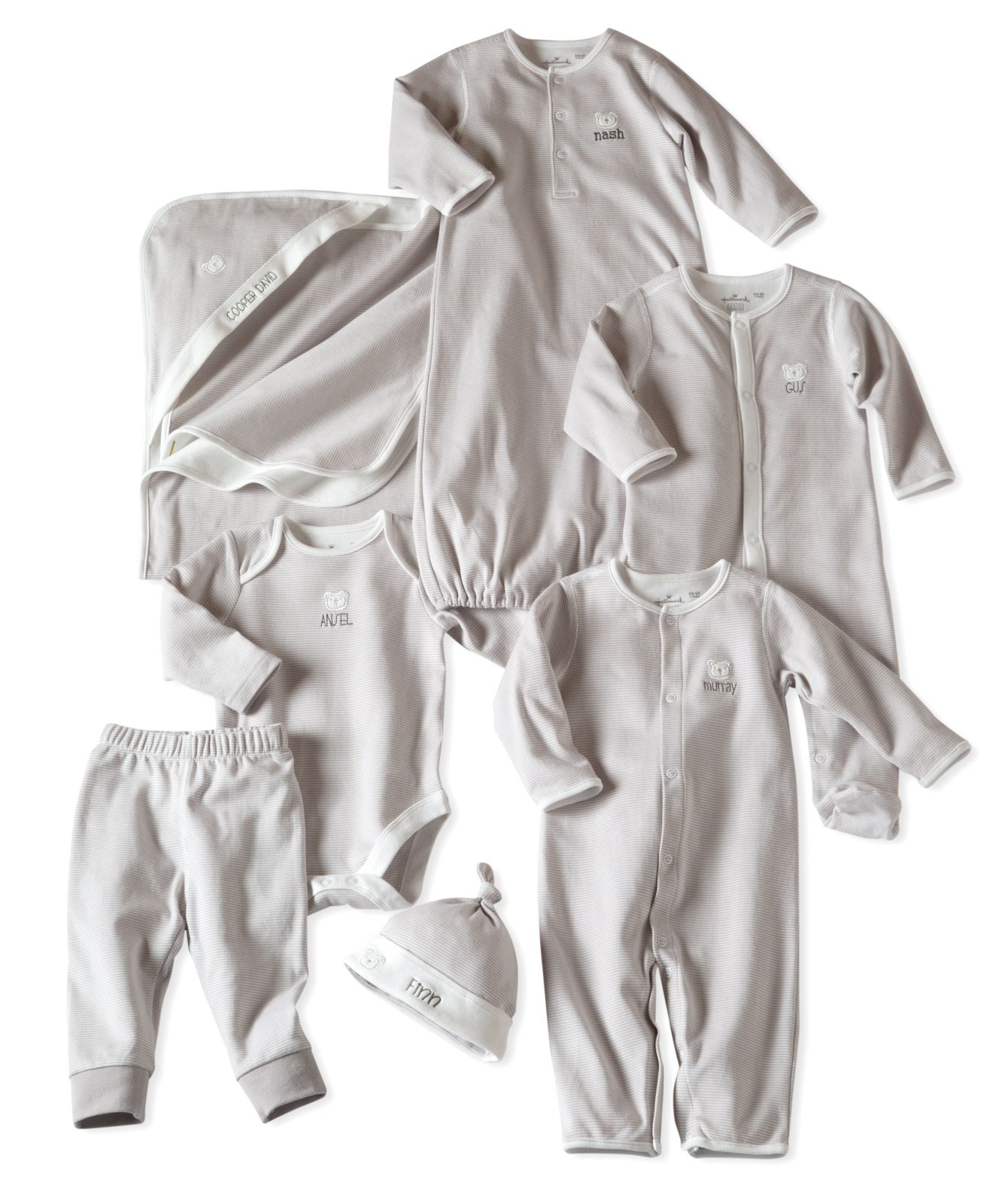 Wonderful baby gifts you can personalize from hallmark baby shop our extensive collection of baby clothes gifts and accessories that you can personalize with their name or a brief message negle Image collections