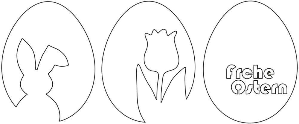 "Photo of 3 templates for quick & simple Easter decorations made of paper: Easter bunny & tulip & ""Happy Easter"" – kugelig.com"