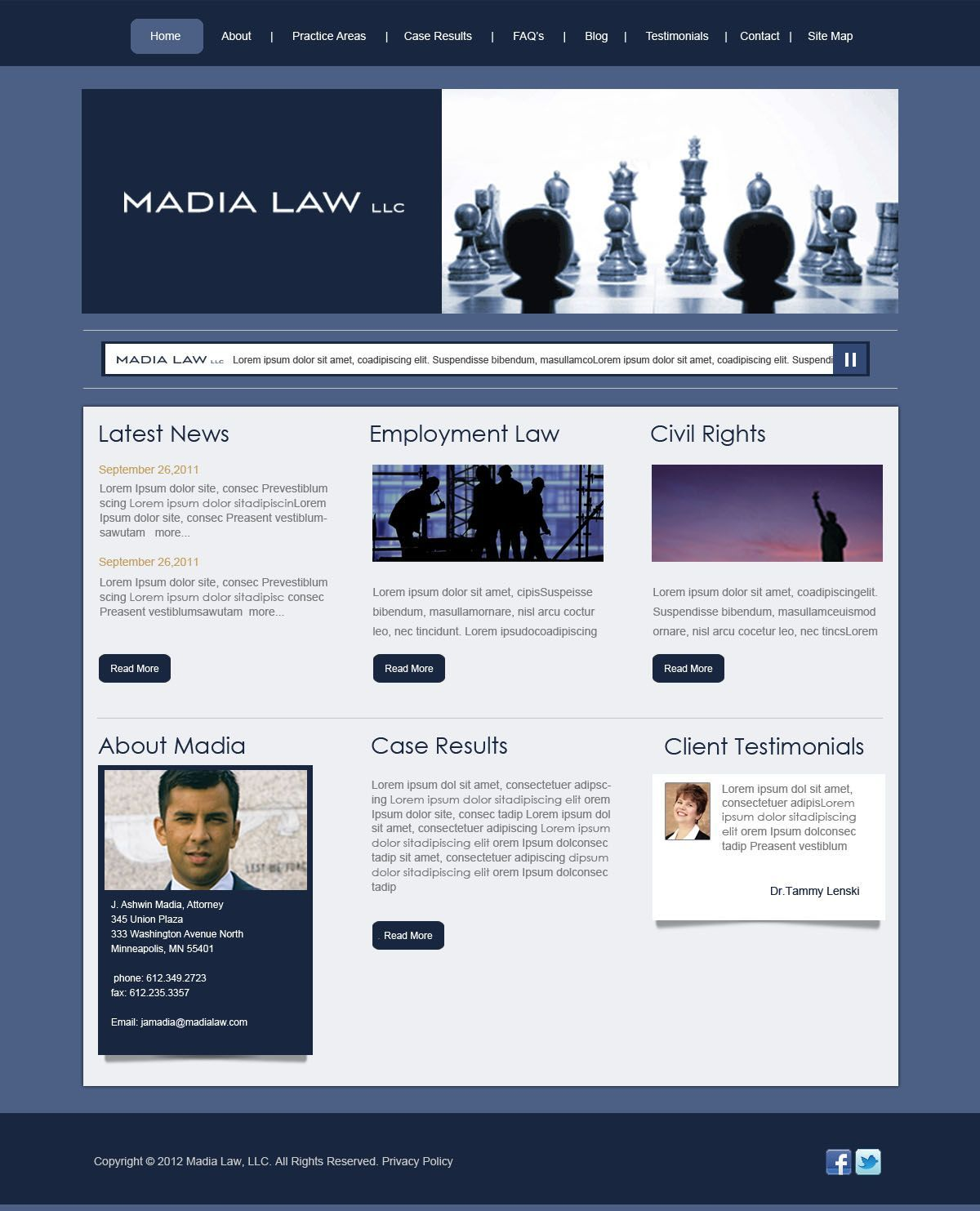 Madia Law Firm website design http//www.conroyconsults