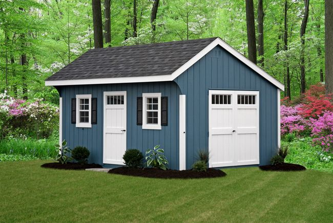 Painted Shed Google Search House Exterior Blue Blue Shed Painted Shed