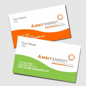 Business Cards Ambit Energy Business Cards Pinterest - Ambit energy business card template