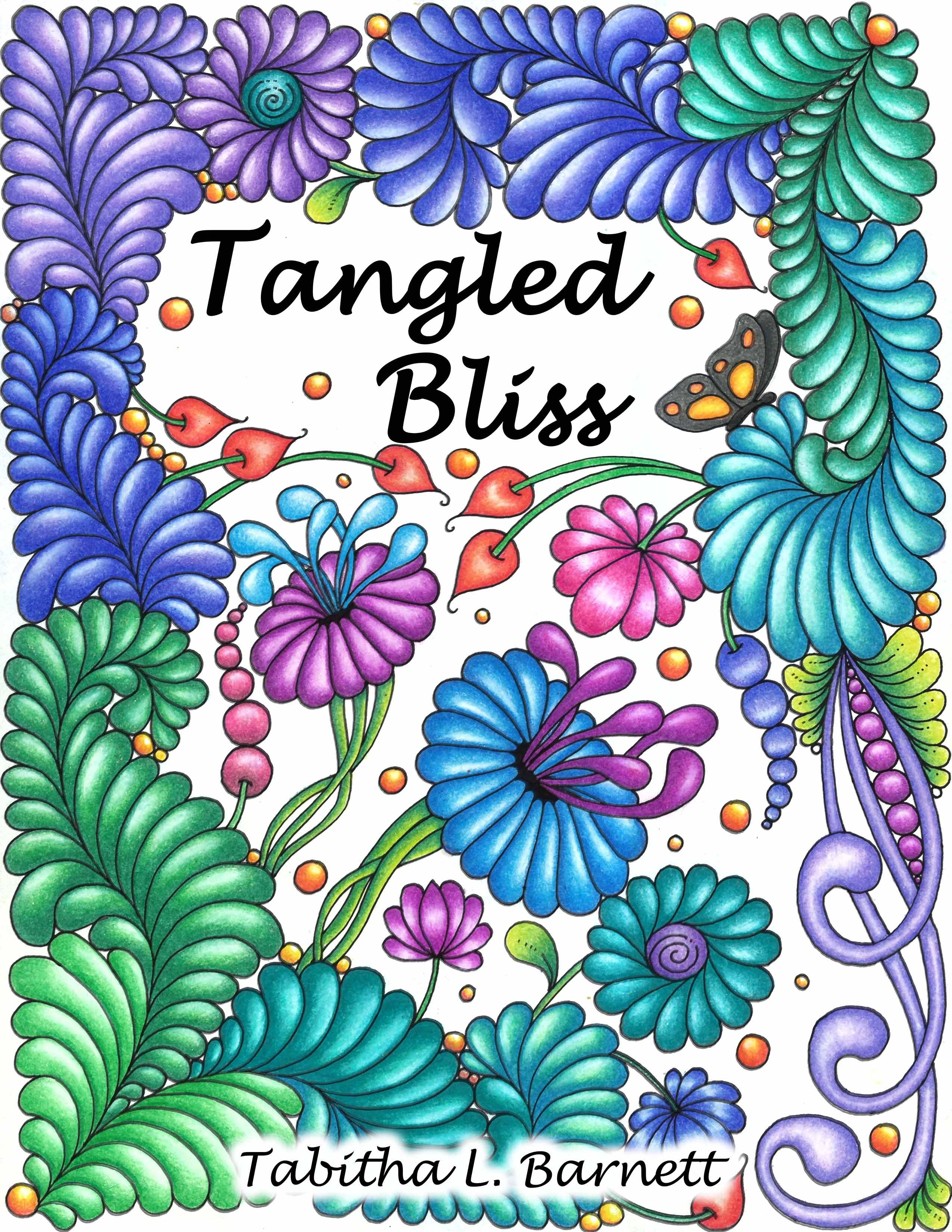 Tangled Bliss Adult Coloring Book In PDF Format 36 Pages To Print And Color