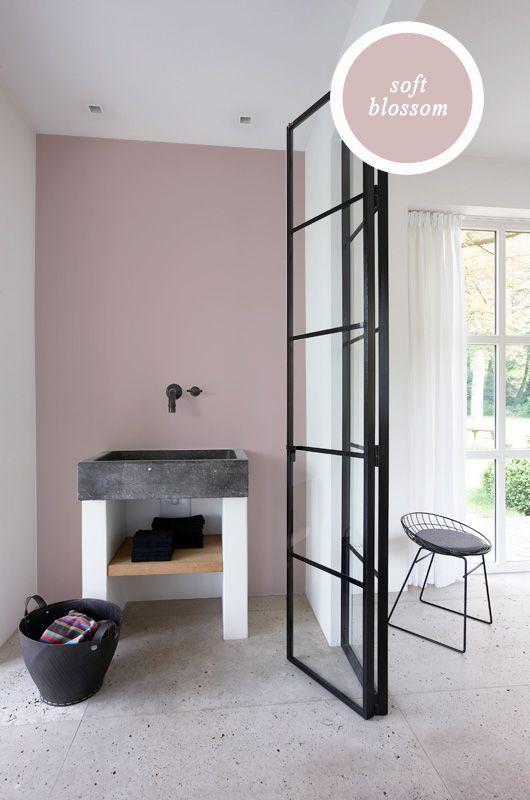 een mooie vergrijsde roze uit onze one by histor collectie interieur pinterest wandfarbe. Black Bedroom Furniture Sets. Home Design Ideas