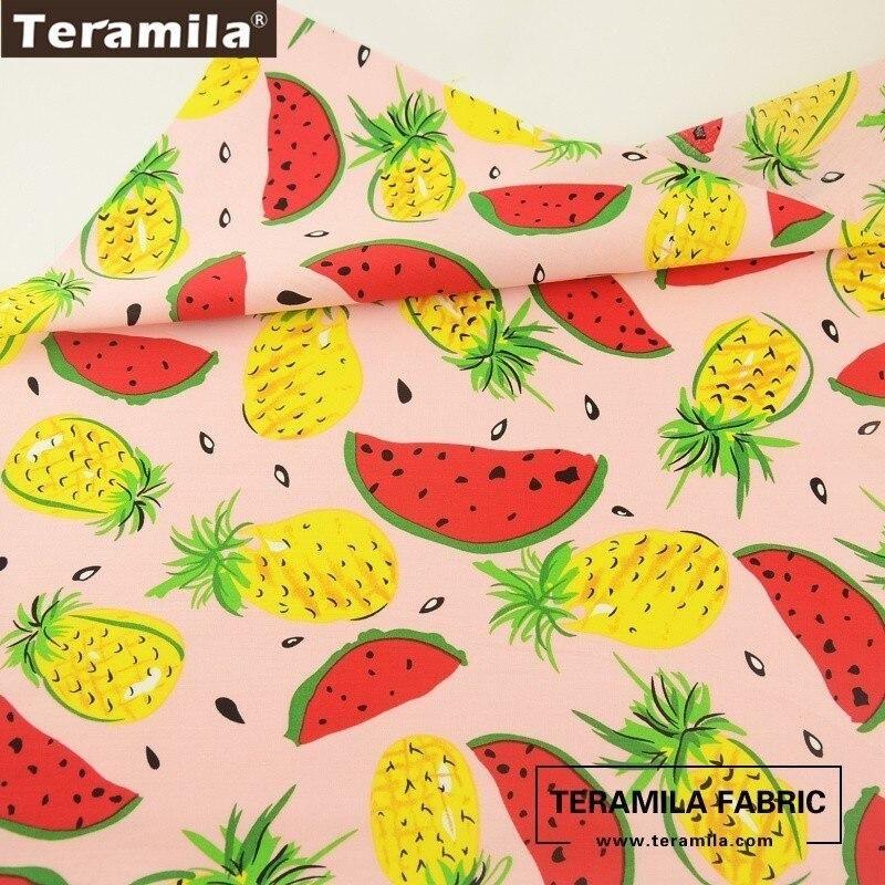 Photo of Teramila Cotton Poplin Fabric Sewing Quilting Fat Quarter Meter Printed Fresh Banana Design Chirdren's Cloth Crafts Soft Tissue – FC011-3 / 45cm x 50cm