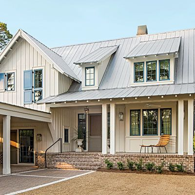 Tout the 2014 idea house james hardie metal roof and batten - Exterior metal paint colors ideas ...