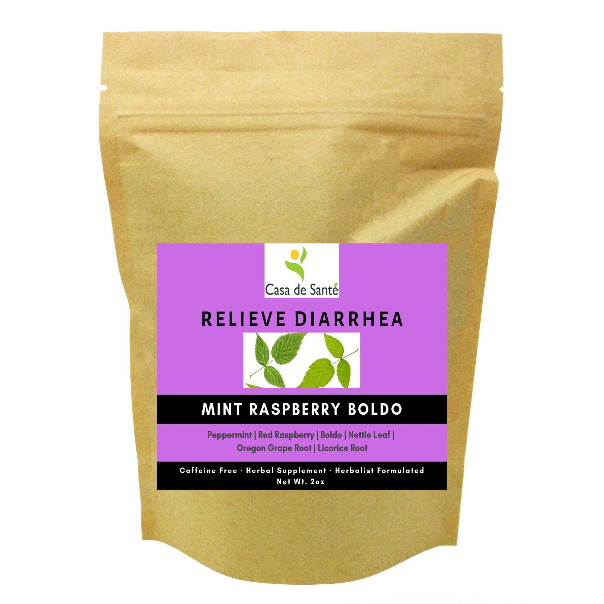 Mint Raspberry Boldo Herbal Tea - Digestive Tea for Diarrhea