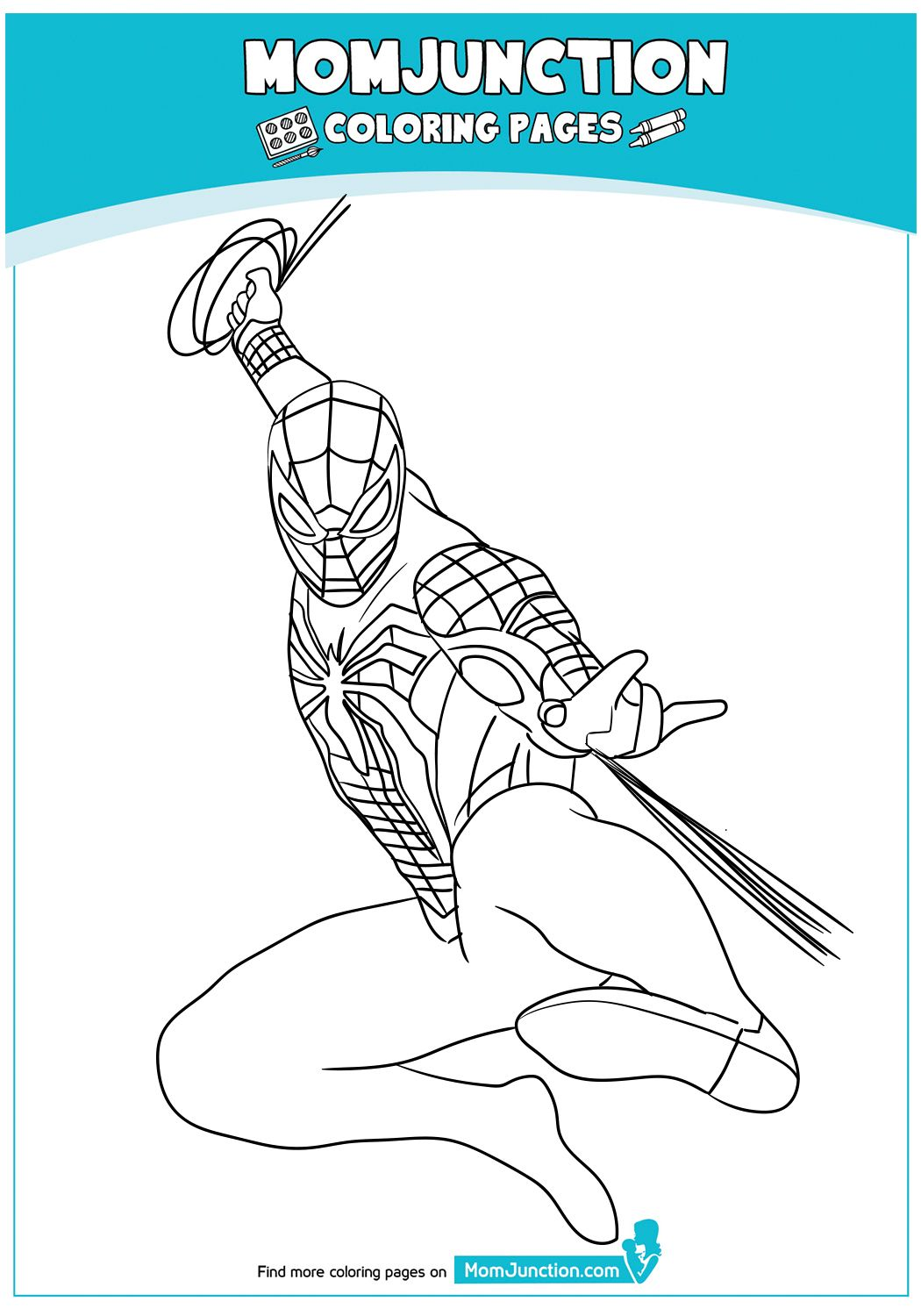 Ps4 Homecoming Spiderman Coloring Pages