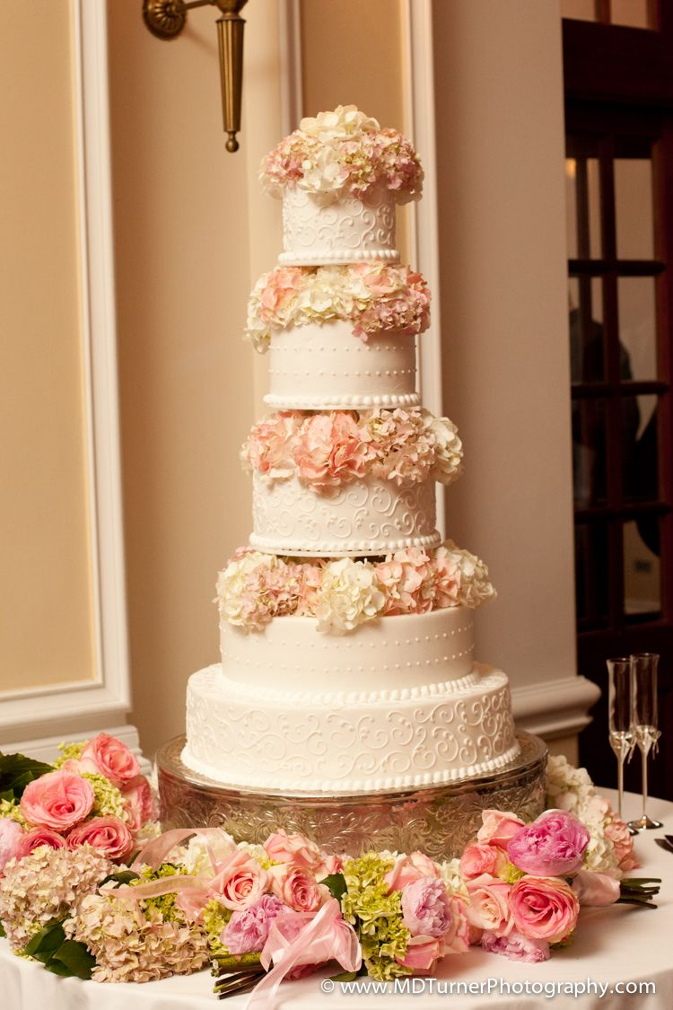 Tall Cake With Pink Fl Layers Houston Wedding Photography Md Turner