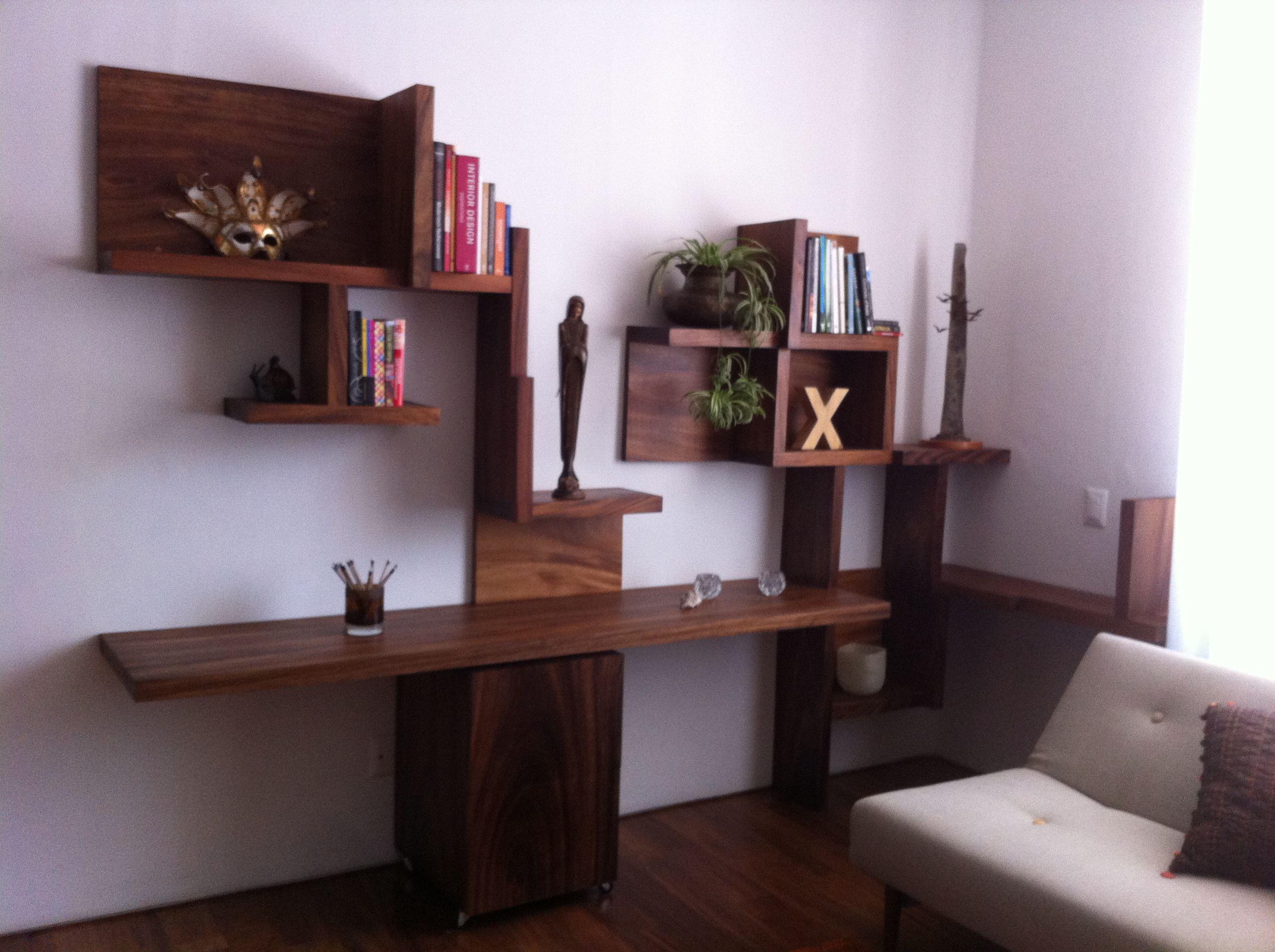 Mueble de madera muebles guadalajara librero estaci n for Estacion de trabajo