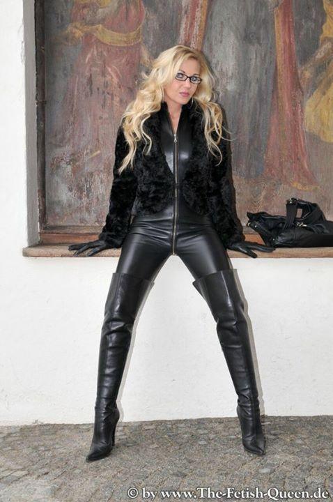 Cum dumpster slut leather dress