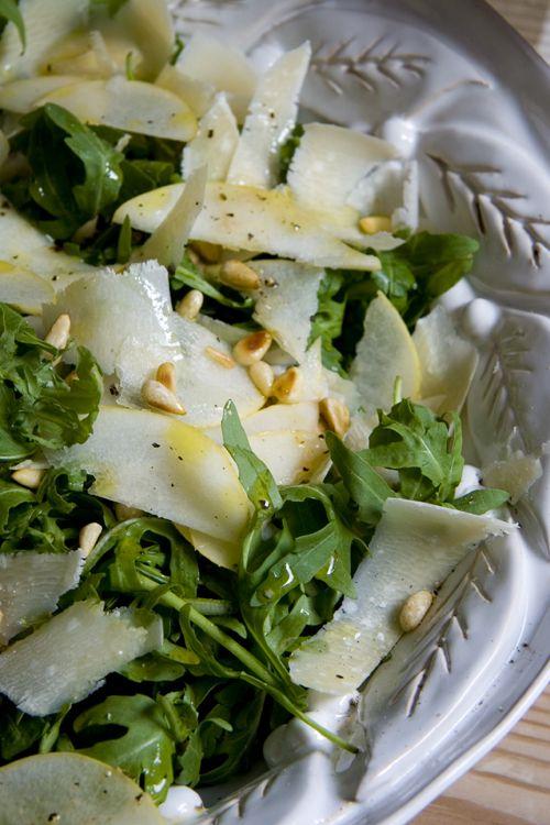 Rocket Pear Parmesan And Pine Nut Salad