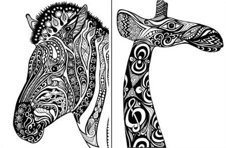 real giraffe coloring pages - photo#38