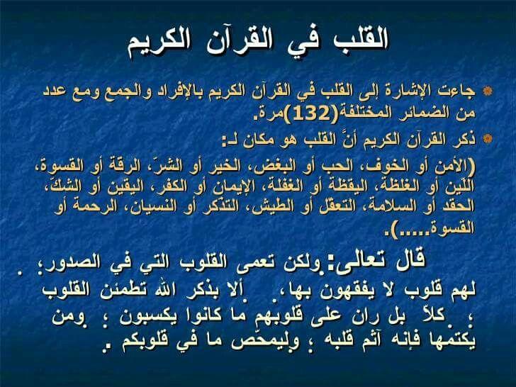 القلب في القرآن الكريم