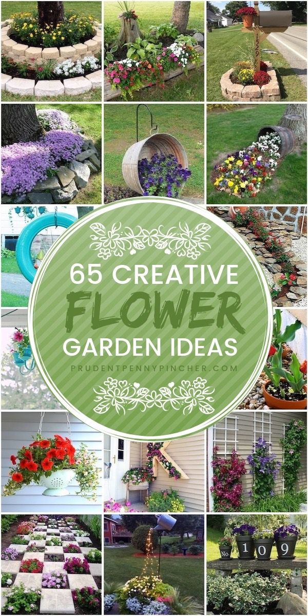 65 Creative Flower Garden Ideas is part of Beautiful flowers garden - Give your yard a colorful makeover with these flower garden ideas  From flower planters to landscaping ideas, there are many ideas for inspiration