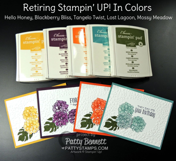 2014 In Colors Stampin Up: Stampin' UP! Retiring In Colors From 2014