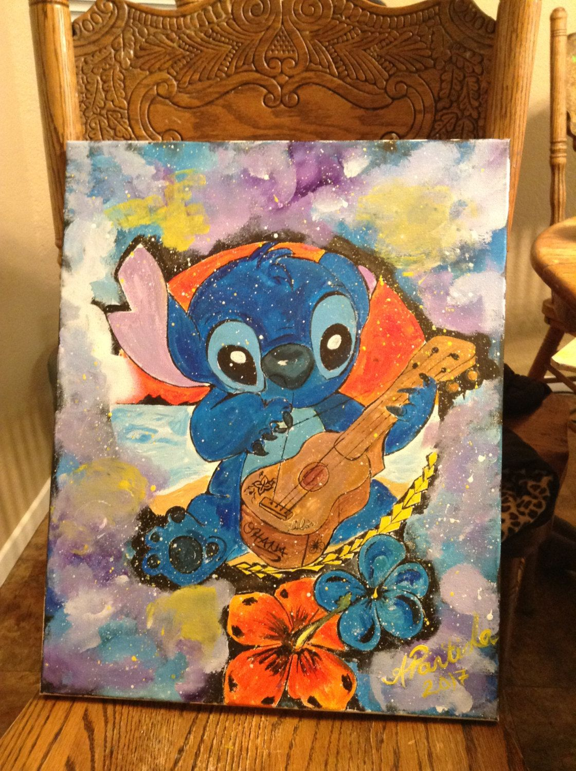 Stitch and lilos ukulele by BeyondFinds on Etsy