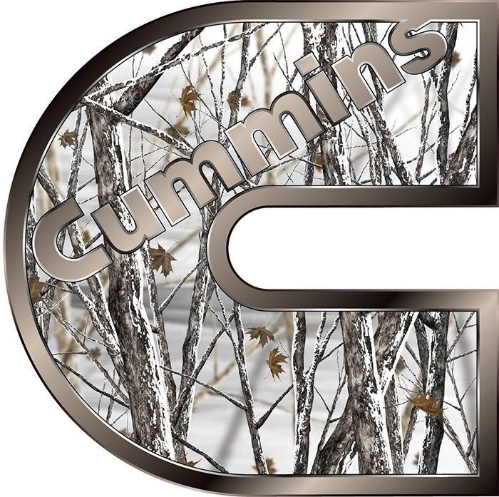 """Picture of Cummins Camo Snow Storm 14"""" Truck Window Decal ..."""