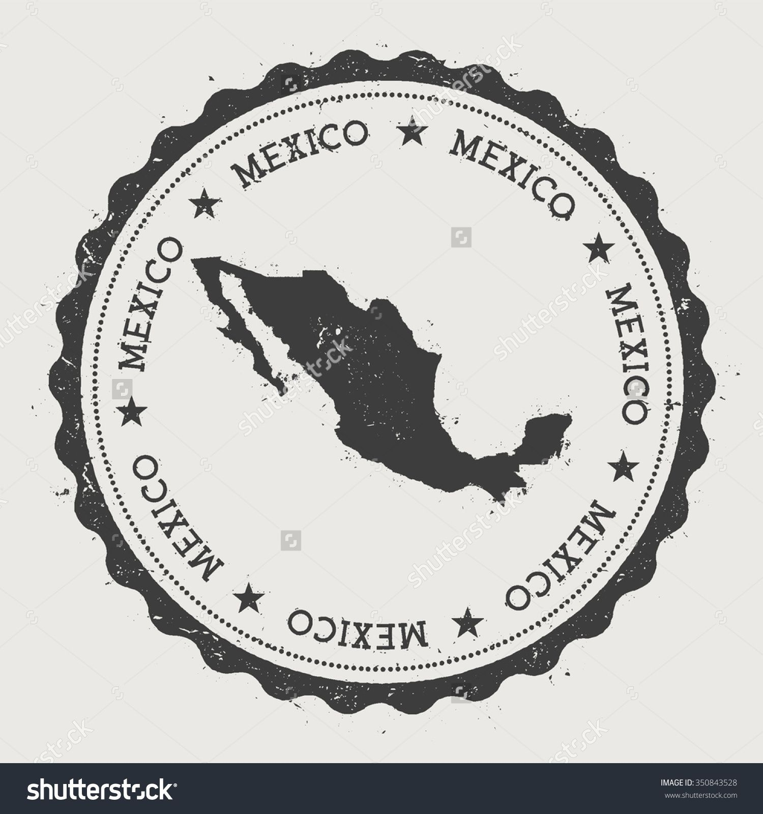 united mexican states hipster round rubber stamp with mexico map