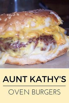 Aunt Kathys Oven Burgers #burgers #kathys