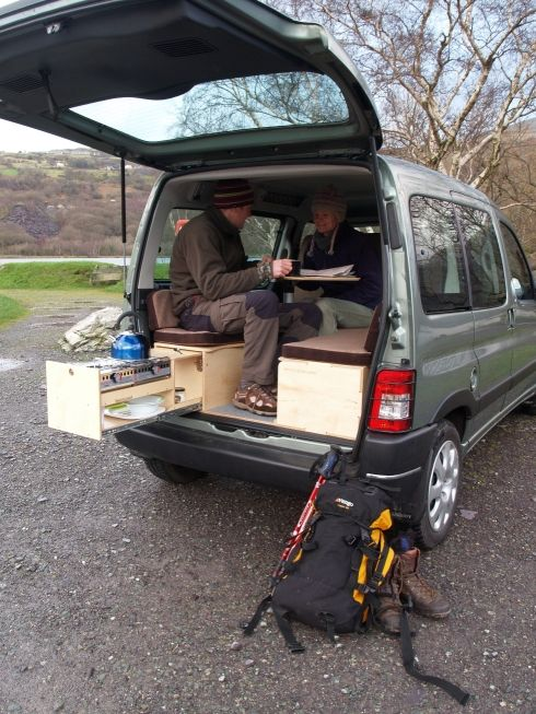 Photo of Berlingo boot jump Car to Camper Conversion unit Wales UK – …
