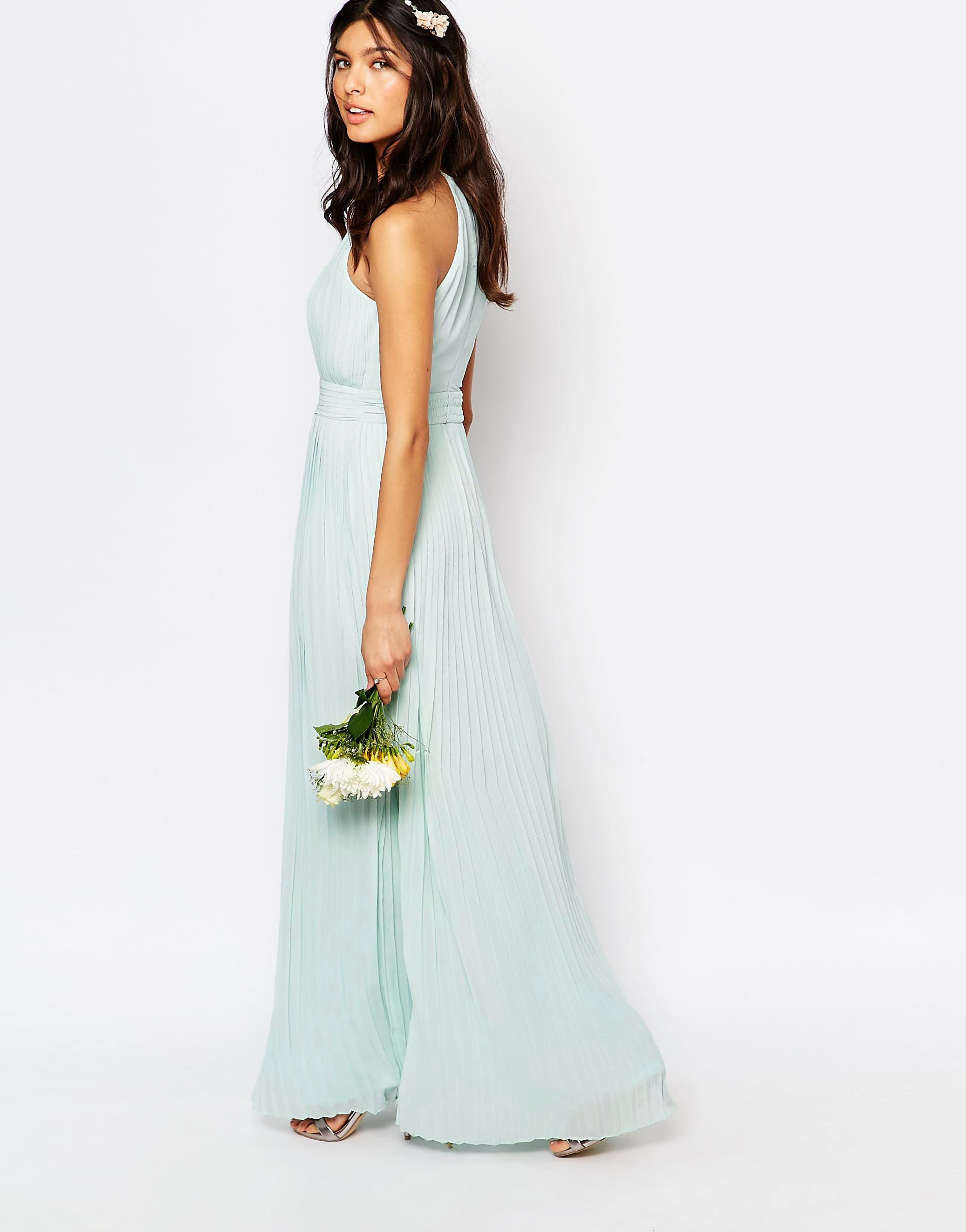 90964a2e97f www.asos.com ---- TFNC WEDDING High Neck Pleated Maxi Dress