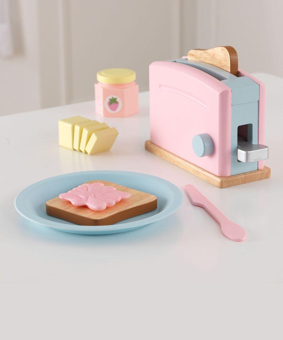 Look at this zulilyfind kidkraft pastel toaster play set by
