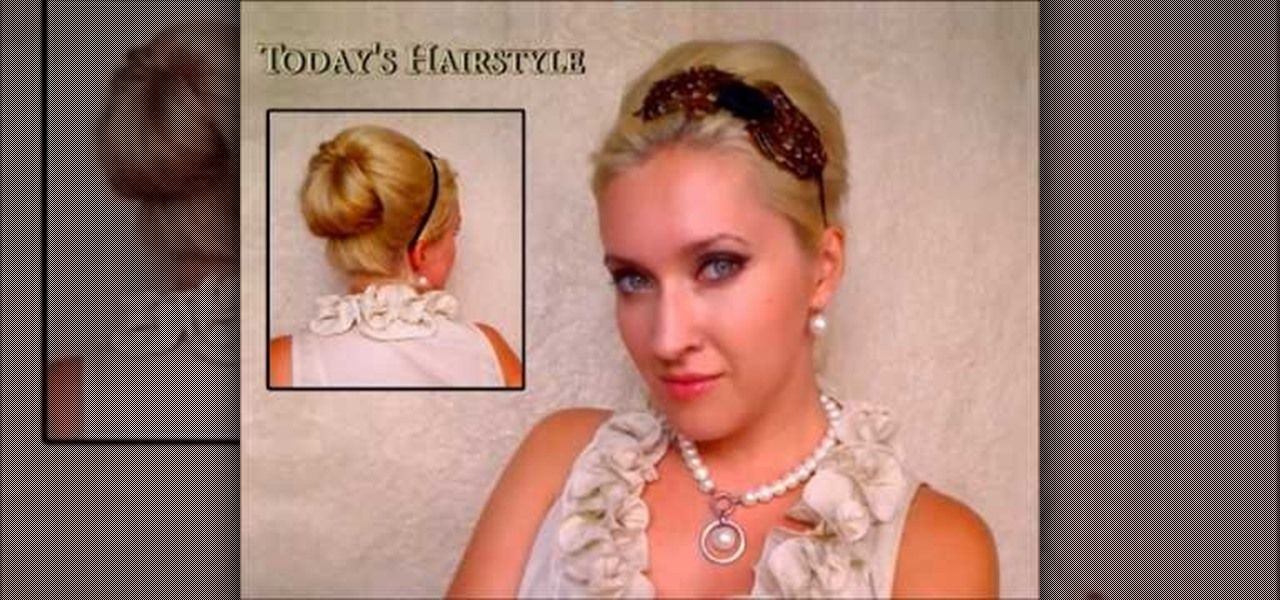 How To Create A Elegant Vintage Rolled Bun Bouffant Beehive Like
