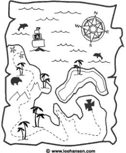 Pirate Activities Free Treasure Map Printable Or Coloring Page