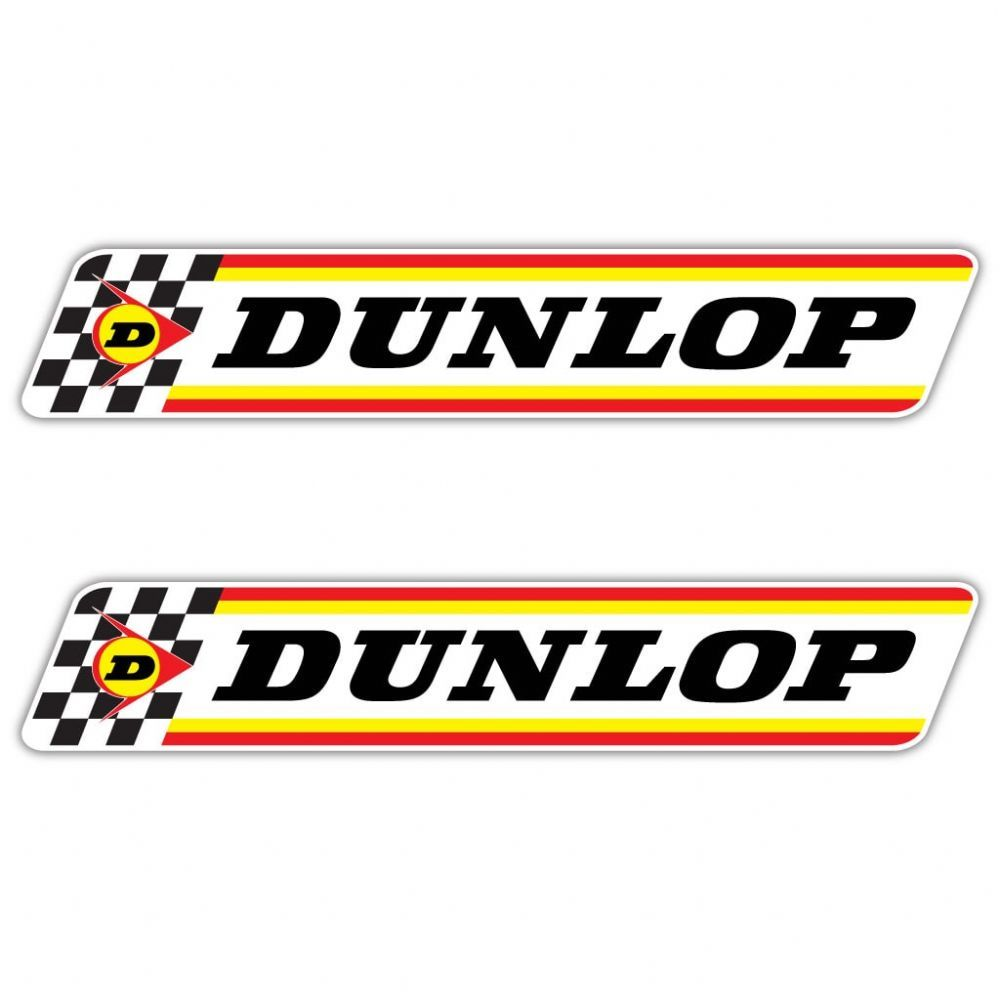 Dunlop Chequered Flag Stickers Available Sizes W 120mm X H 21mm W 200mm X H 35mm W 300mm X H 53mm These Stickers Car Sticker Design Slot Cars Motor Oil Vintage [ 1000 x 1000 Pixel ]