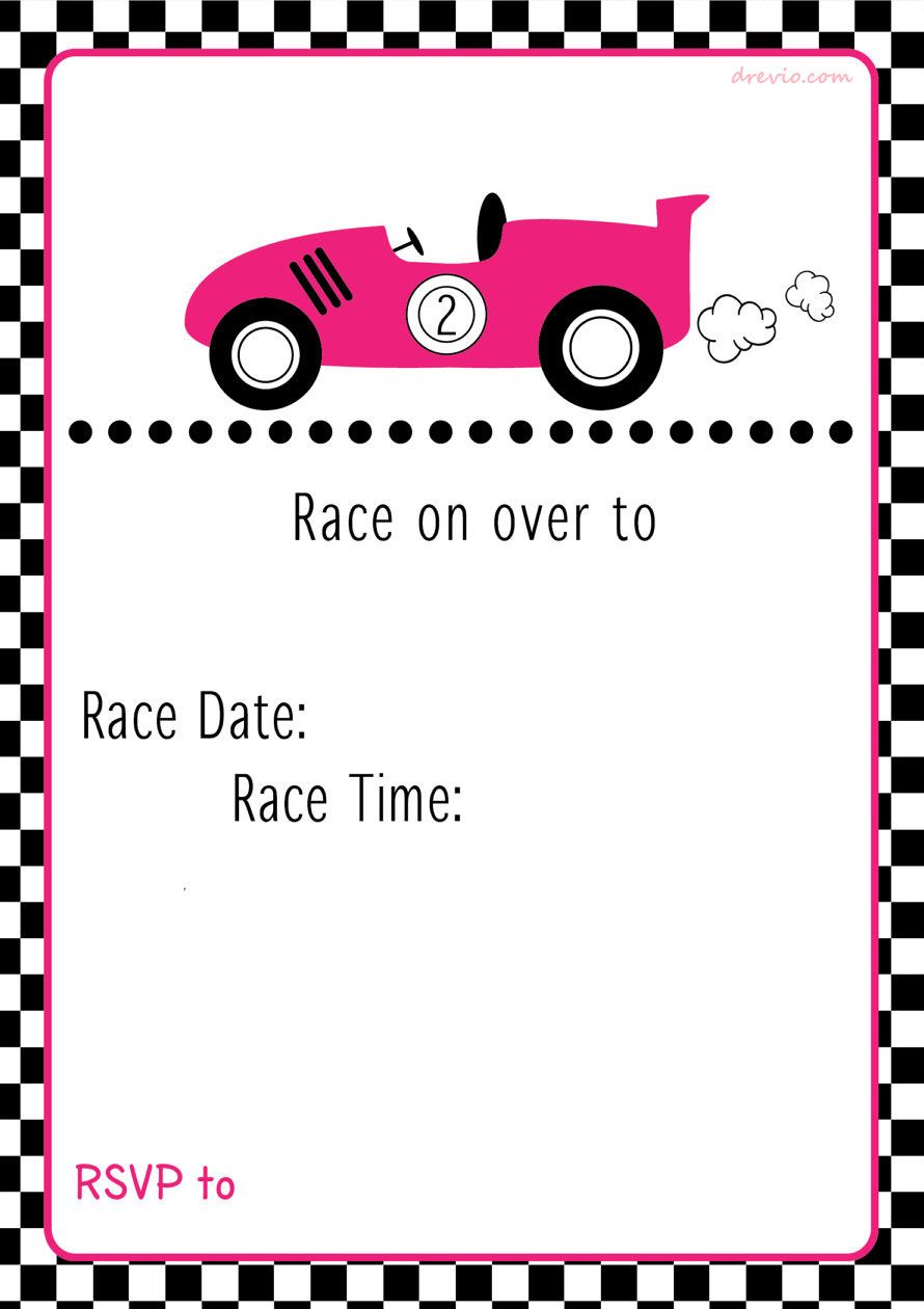 Free Printable Race Car Birthday Party Invitations Updated Cars Birthday Invitations Car Birthday Party Invitations Printable Birthday Invitations