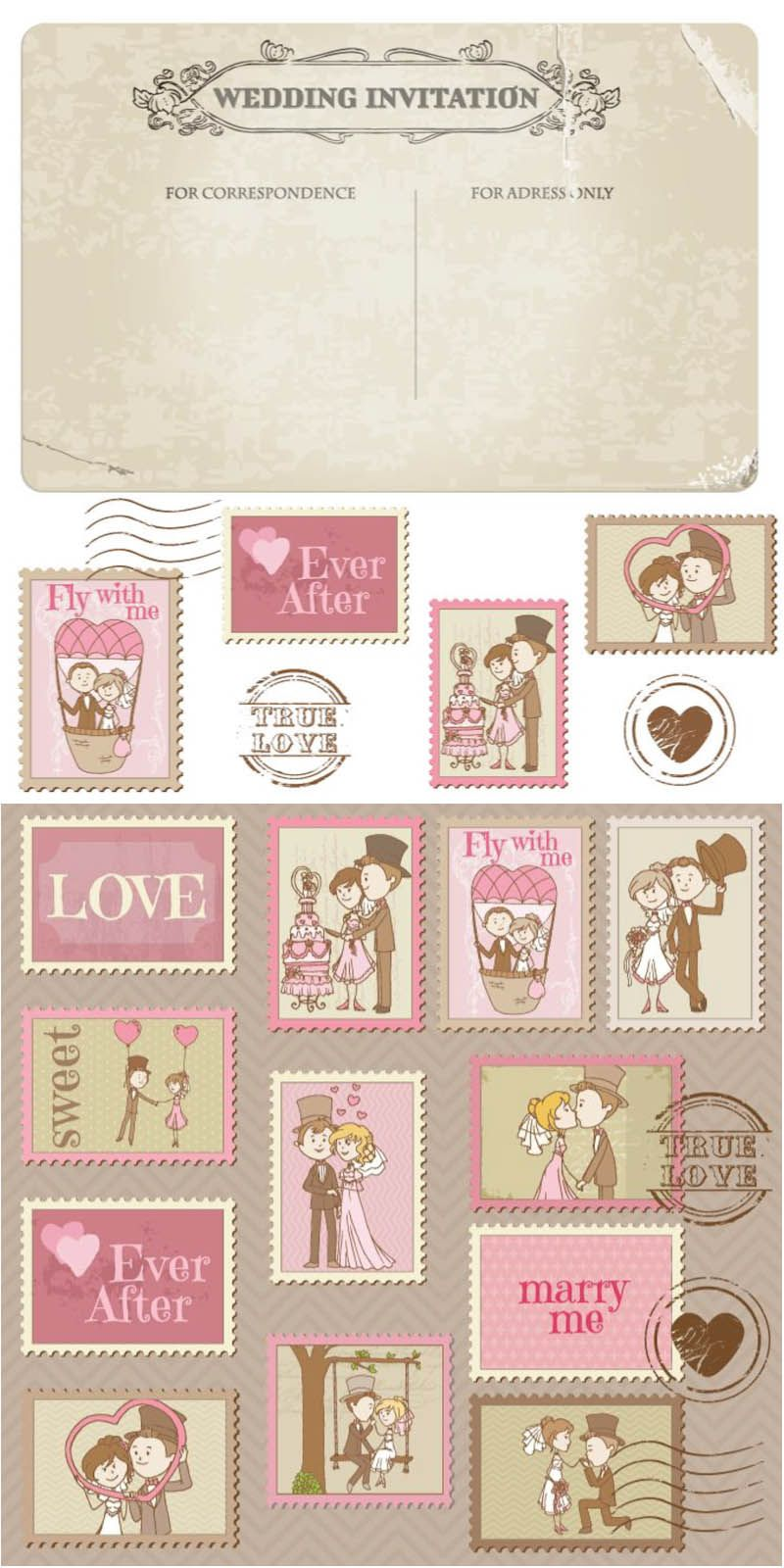 Wedding greeting design vector paper goods pinterest wedding wedding greeting design vector stopboris Image collections