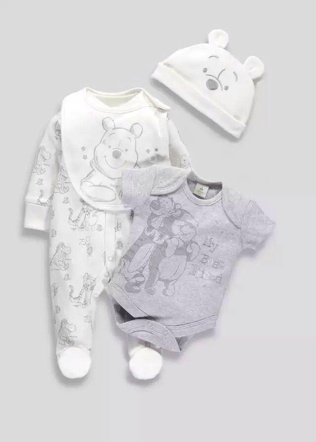 Unisex Babykleding.Unisex Winnie The Pooh Set Matalan Babbbieeesss Disney Baby