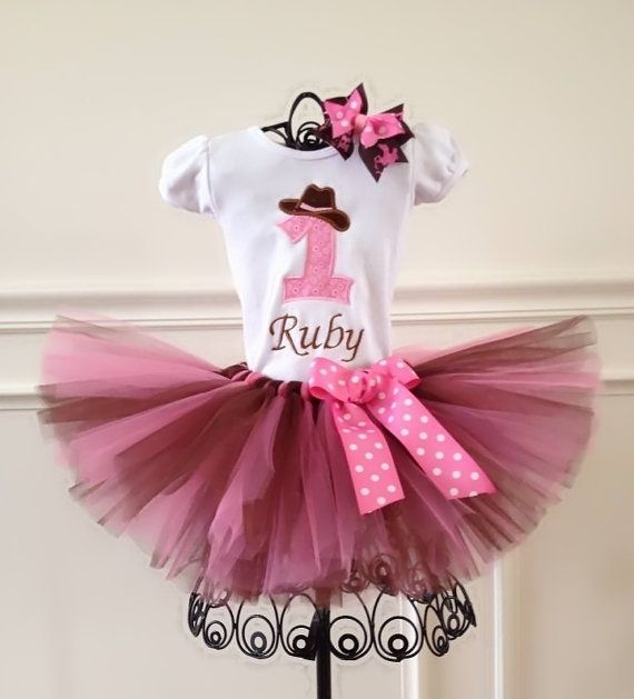 Cowgirl Tutu Outfit Farm Party 1st Birthday Any Number On Shirt