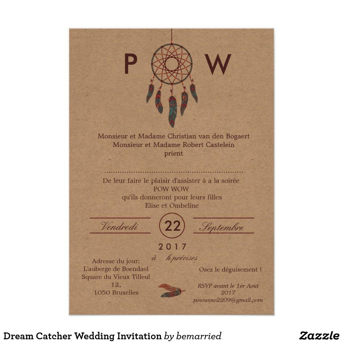 Dream catcher wedding invitation indien pinterest dream