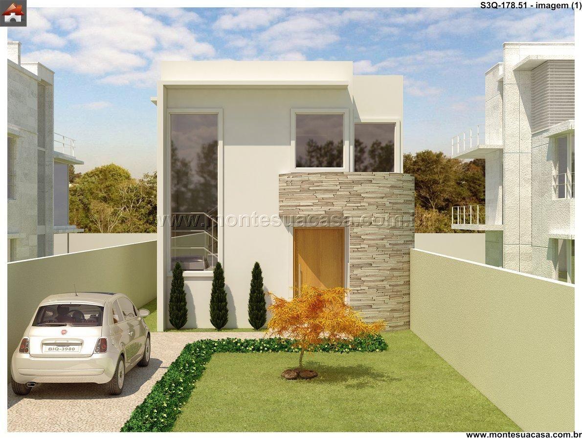 Sobrado 3 quartos architecture pinterest for Decoracion exterior de casas