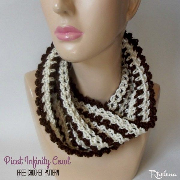 Picot Infinity Cowl ~ FREE Crochet Pattern | Scarves | Pinterest ...