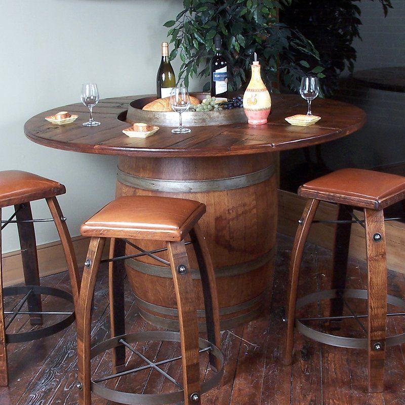 2 Day Designs Barrel Bistro Pub Table Atg Stores Wine Barrel Table Wine Barrel Furniture