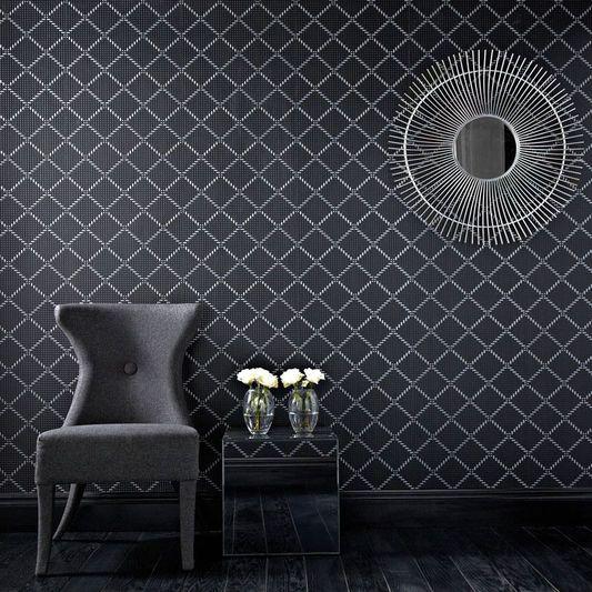 Quantum Black And Silver Wallpaper Large Black And Silver Wallpaper Paintable Wallpaper Modern Wallpaper