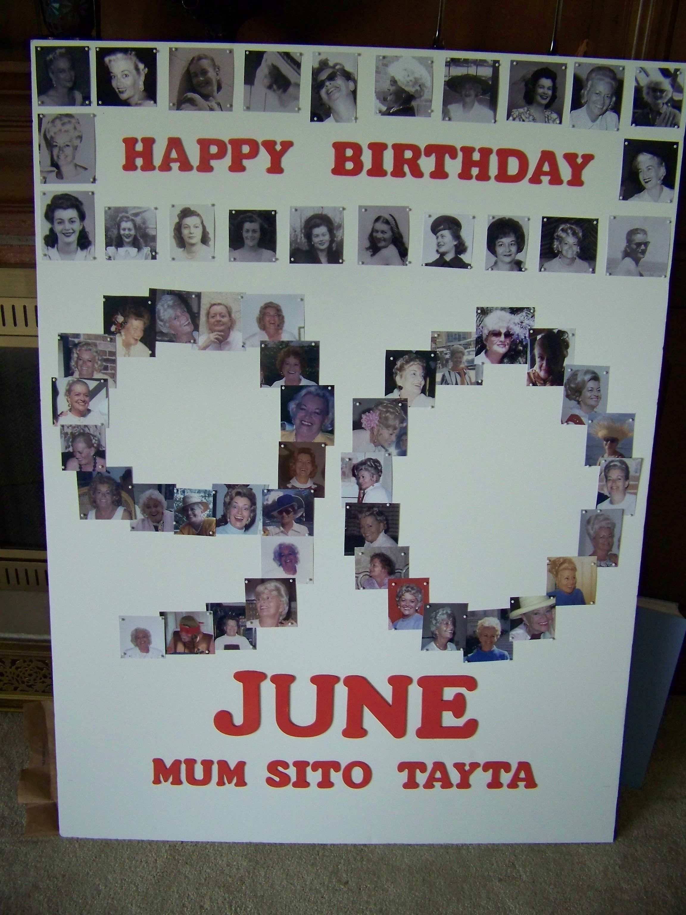 Just Finished This Picture Board For My Mothers 90th Birthday Party Thanks To Julia Ferguson The Idea
