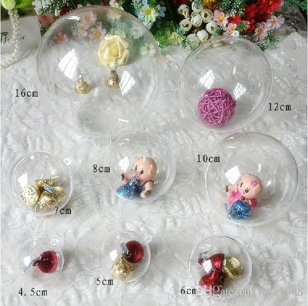 Plastic Ball Ornament Decorating Ideas New 4Cm 5Cm 6Cm 7Cm 8Cm 10Cm 12Cm 156Cm Clear Plastic Ball Candy